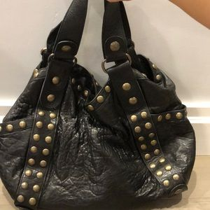 Kooba Jillian Black Leather Bag
